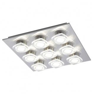 Eglo 94573 Marchesi LED Wand & Deckenleuchte 9 x 45 W Stahl Alu Nickel-Matt Kunststoff klar