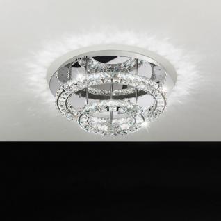 Toneria Kristall LED Deckenleuchte chrom 36W Deckenlampe