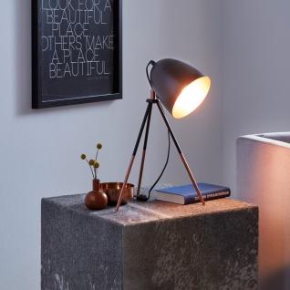 Licht-Trend Stake Tischleuchte mit Wow-Effekt Schwarz & Kupfer Tischlampe