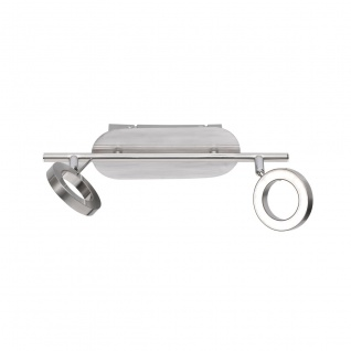 Wofi Monza LED Deckenbalken 2-flammig Nickel matt Strahler Spots