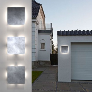 Licht-Trend Seis LED Aussen-Wandleuchte Stahl galvanisiert Wandlampe Aussen