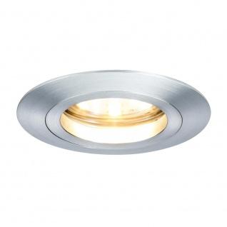 Paulmann 3er LED Einbauleuchten-Set Coin klar rund 7W Alu dimmbar 92809