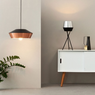 s.LUCE pro LED Pendelleuchte SkaDa Ø 40cm in Kupfer Schwarz Pendellampe Hängelampe