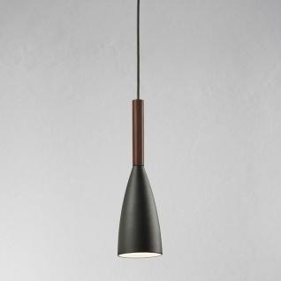 Licht-Trend Balanda Hängeleuchte Ø 10cm mit Holz anthrazit