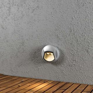Konstsmide 7913-310 Chieri LED Wandaufbauleuchte rund / Grau, klares Acrylglas