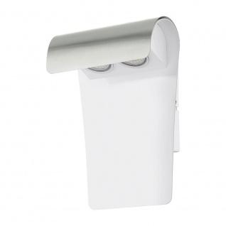 Eglo 93999 LED Edelstahl Aussen-Wandleuchte Fastro 1 2 x 2, 5W Weiß