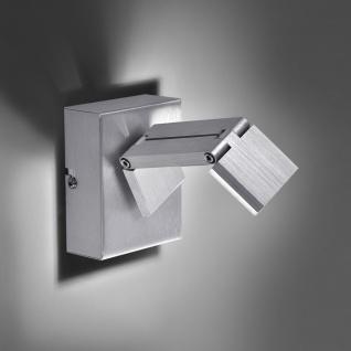 Licht-Trend Convert 1 innovativer LED Wandstrahler mit Dimmer Alu-Gebürstet Wandspot Wandlampe