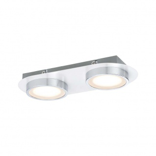 Paulmann Wandleuchte Liao LED 1x9, 4W Weiß-Matt Chrom 70943