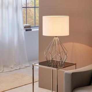 Licht-Trend Bosco Retro Tischleuchte Vintage-Look Chrom & Weiß Tischlampe