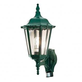 Konstsmide 7236-600 Firenze Aussen-Wandleuchte mit Bewegungsmelder Grün klares Glas