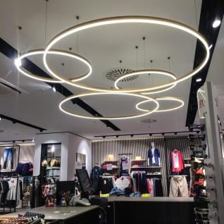 s.LUCE Ring S LED-Hängeleuchte Ø 40cm Chrom Wohnzimmer Hängelampe LED-Ring - Vorschau 2