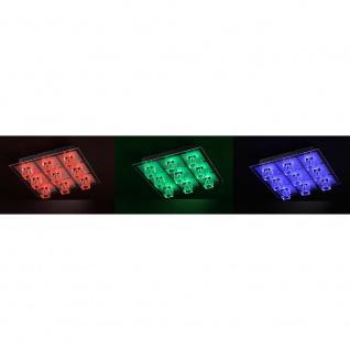LeuchtenDirekt 50385-17 Oki LED Deckenleuchte 9 x G4 14W + 9 x LED 0, 36W RGBK Silberfarben - Vorschau 5