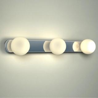 Licht-Trend Azos Spiegel Wandleuchte 44cm IP44 Chrom Weiss