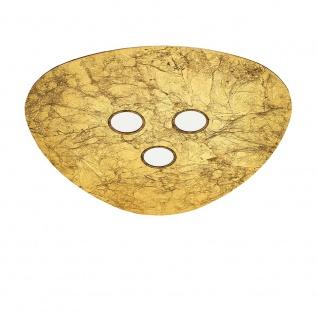 Nova Luce Triangolo LED Deckenleuchte Goldfolie Ø 32cm 15W 3000K Deckenleuchte