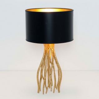 Holländer 280 K 1202 Tischleuchte Capri Klein Metall Gold-Schwarz