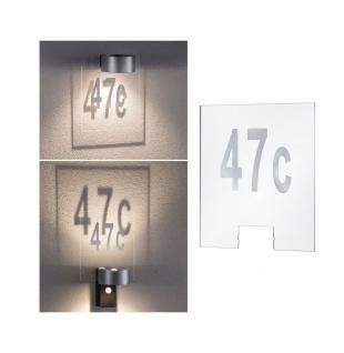 Paulmann Hausnummernschild Outdoor House Transparent 79674