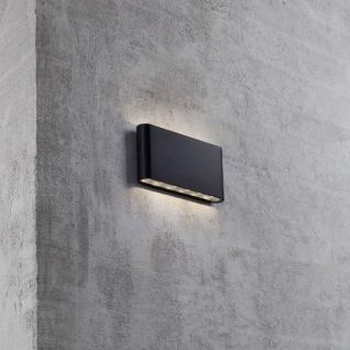 LED Außen Wandleuchte Quadi IP54 Schwarz