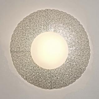 Holländer 300 K 13185 S Wandleuchte 2-flammig Utopistico Grande Eisen-Glas Silber
