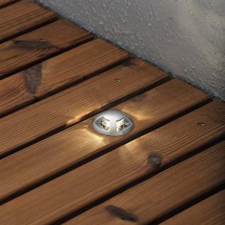 Konstsmide 7678-000 Mini LED Bodenspots 3-tlg. Erweiterungsset zu 7659 / klares Glas