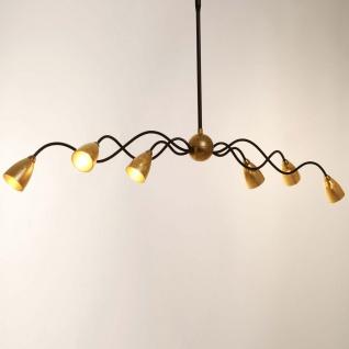 Holländer 300 K 15156 GG Hängeleuchte 6-flammig Alice Grande Eisen-Glas Braun-Schwarz-Gold