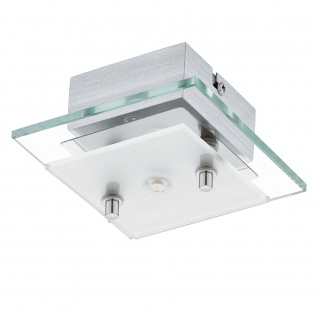 Eglo 93884 Fres 2 LED Wand- & Deckenleuchte Klar Weiß Chrom