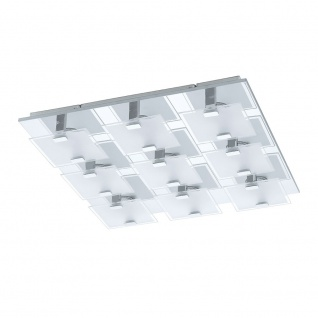 Eglo 93315 Vicaro LED Wand- & Deckenleuchte 9-flammig Weiß Klar Chrom