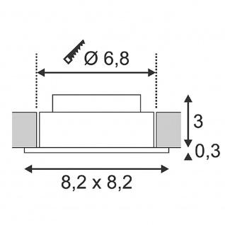 SLV 113961 New Tria LED 3W DL Square Set Downlight Weiss-Matt 38° 3000K inkl. Treiber Clipfed. - Vorschau 2