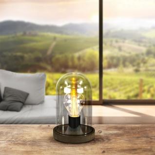 Fanal I Tischleuchte LED / Holz mit Glaskuppel