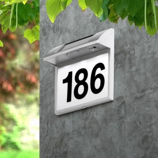 Moderne LED Solar-Hausnummer für Wandmontage Solar Gartenlampe Gartenleuchte