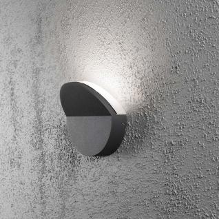 Konstsmide 7949-370 Matera LED Aussen-Wandleuchte Anthrazit opales Acrylglas
