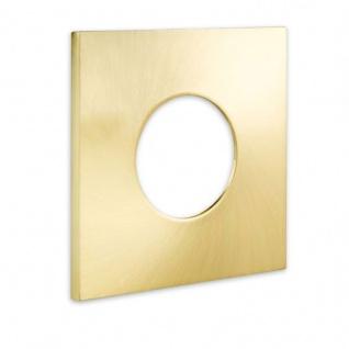 Cover für Einbaustrahler Sys-68 eckig Gold-Gebürstet