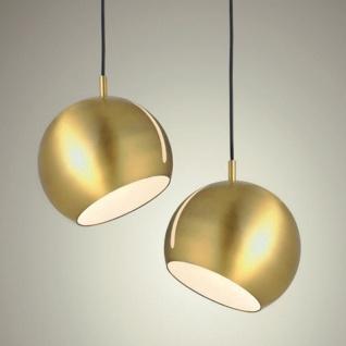 s.LUCE Pendelleuchte Ball verstellbar Ø 20cm Goldfarben Hängelampe Hängeleuchte