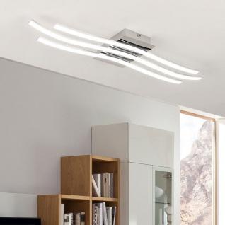Eglo Roncade LED-Deckenleuchte 60cm 2400lm Chrom Deckenlampe