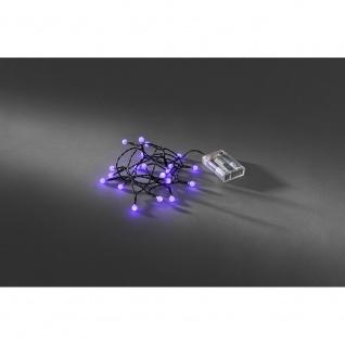 LED Globelichterkette runde Dioden Timer 20 purpurfarbene Dioden batteriebetrieben für Innen