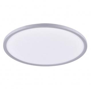 Licht-Trend Q-Flat Ø60cm LED Deckenleuchte 3000K Silber LED-Deckenlampe