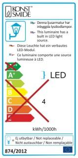 Konstsmide 7681-750 Amalfi LED Aussen-Wandleuchte inkl. Trafo 12V Schwarz - Vorschau 5