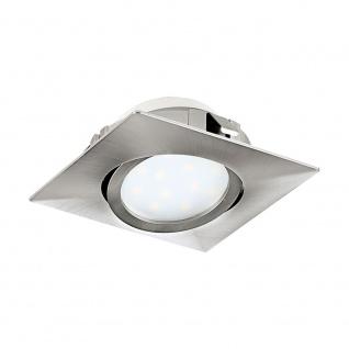 Eglo 95843 Pineda LED Einbaustrahler 500lm Nickel-Matt
