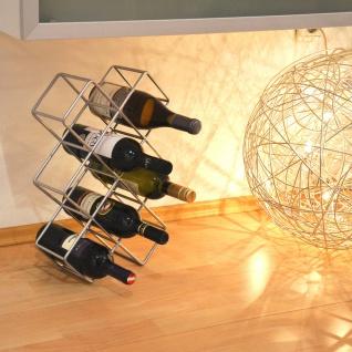s.HOME Rak Design Weinregal Alu-Matt Flaschenregal Weinhalter Wine Rack