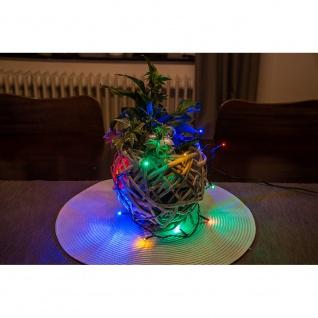 Micro LED Lichterkette verschweißt 20 bunte Dioden 24V Innentrafo dunkelgrünes Kabel - Vorschau 5