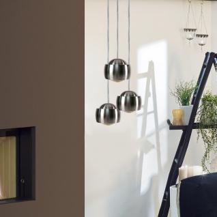 s.LUCE Beam LED Hängeleuchte mit Glaslinse Ø 12cm Hängelampe Alu-Gebürstet