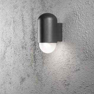 Konstsmide 7525-370 Sassari LED Aussen-Wandleuchte 280lm 3000K Anthrazit opales Echtglas