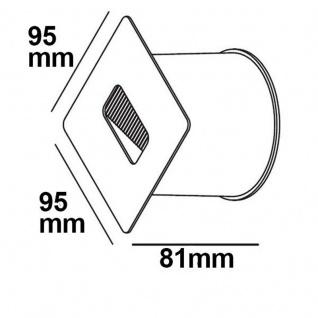 LED Wandeinbauleuchte eckig 3W Edelstahl Warmweiß IP65 - Vorschau 3