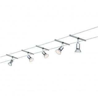 Paulmann Wire System Spice Salt LED Seilsystem 5x4W GU5, 3 Chrom Seil-Set