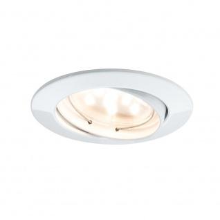 Paulmann 928.15 3er LED Einbauleuchten-Set Coin klar rund 7W Weiß dimm- & schwenkbar