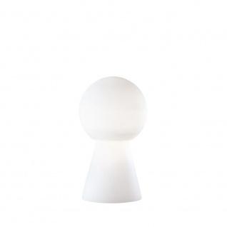 Ideal Lux Birillo mundgeblasene Glas Tischleuchte 40cm Weiß