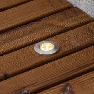 Konstsmide 7676-000 Mini LED Bodenspots 3-tlg. Erweiterungsset zu 7639 Edelstahl klares Glas