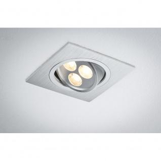 Paulmann Premium EBL Aria eckig schwb. LED 1x3W 350mA 92x92mm Alu geb. Chr. matt - Vorschau 3