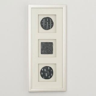 Holländer 306 3140 S Wandbild Diviso 1 Holz-Glas-Kunststein Silber-Schwarz
