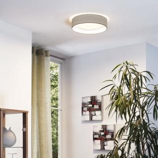 Eglo 31589 Pasteri Deckenleuchte Kunststoff Stahl Weiß Textil Taupe (Graubraun)