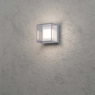 Konstsmide 7924-310 Sanremo LED Aussen-Wandleuchte / Grau, klares Polycarbonat Glas (bruchsicher)